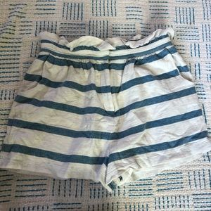 Mara Hoffman paperbag stripe shorts - large
